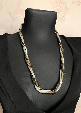 Цепь колье винтаж япония бижутерия цвет золото серебро металл