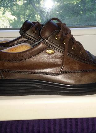 Брендовые мужские коричневые туфли на шнуровке sioux натуральная кожа.