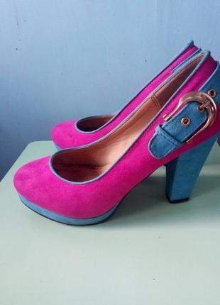 Розовые туфли , замшевые туфли, туфли 37 размер , туфли на каблуке , нарядные туфли