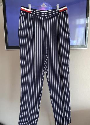 Tommy hilfiger оригинал мягкие свободные брюки из струящейся ткани л-хл(46-48)