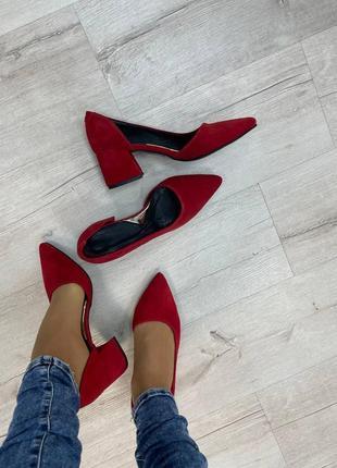 Эксклюзивные туфли лодочки итальянская кожа и замша лак