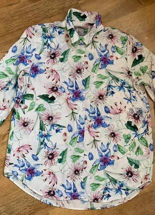 Рубашка блузка тм «h&m» р.38/s/m/44-4610 фото