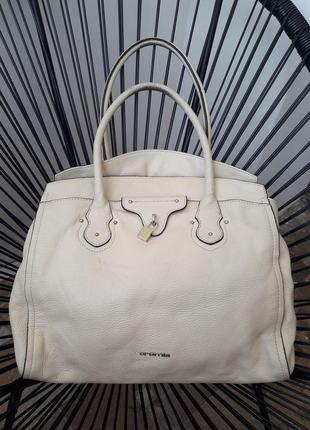Cromia натуральная кожа огромная сумка италия