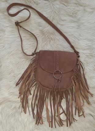 Новая маленькая сумка через плечо  /сумочка через плече коричнева маленька