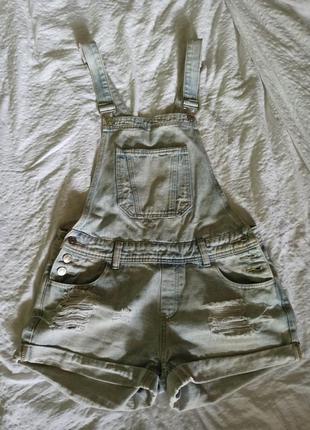 Комбенизон женский джинсовый шорты
