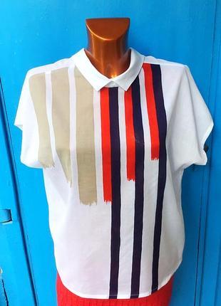 Летняя из хлопка блуза от spengler mode