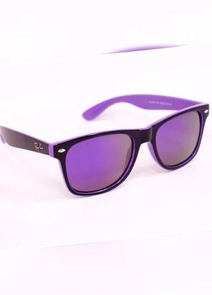 Зеркальные женские очки ray ban