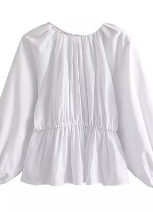 Блуза с объёмным рукавом