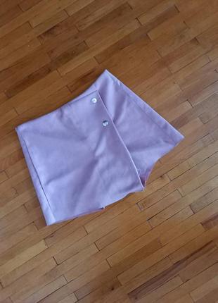 Шорти спідниця zebra рожева міні юбка розова