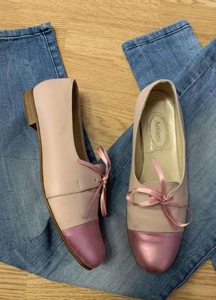 Фирменные кожаные балетки artizen italy,туфли,мокасины,туфельки