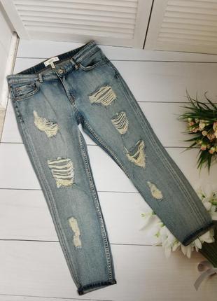 Рваные джинсы размер с mango