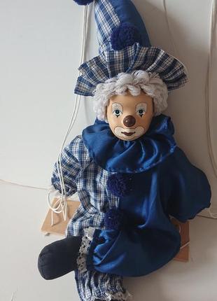 Керамический винтажный клоун на качели из германии. 60см.