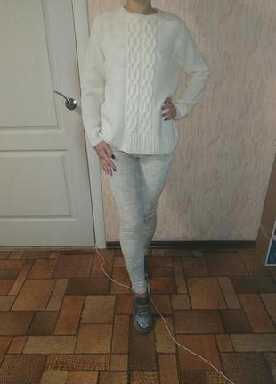 Велюровые вельветовые брюки жемчужного цвета