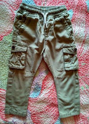 Стильные брюки-узкачи next 12-18 месяцев