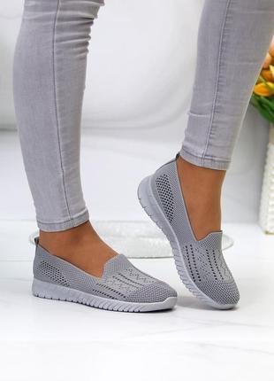 """Легкие и удобные, серые мокасины """"chill"""" из обувного текстиля"""