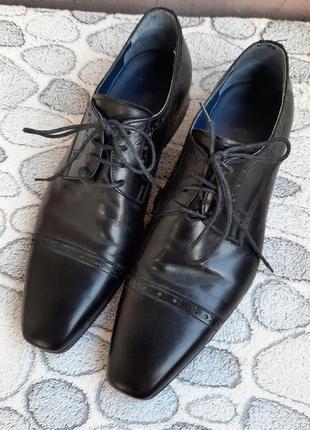Шикарные кожаные классические туфли vero cuoio