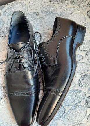 Шикарные кожаные классические туфли vero cuoio3 фото
