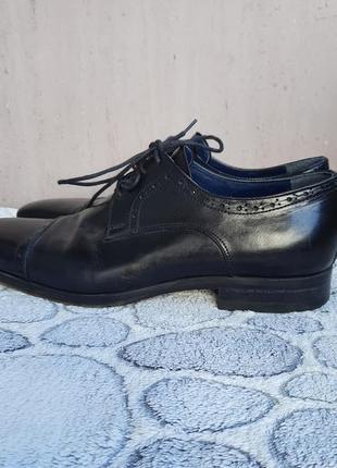 Шикарные кожаные классические туфли vero cuoio4 фото