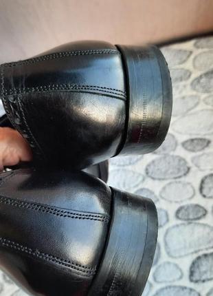 Шикарные кожаные классические туфли vero cuoio6 фото