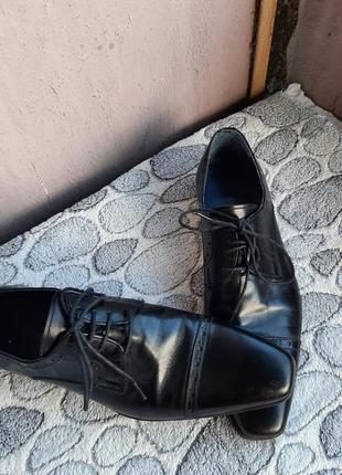 Шикарные кожаные классические туфли vero cuoio7 фото