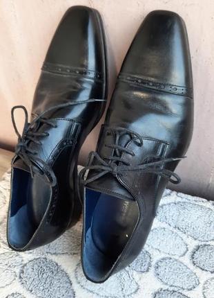 Шикарные кожаные классические туфли vero cuoio8 фото