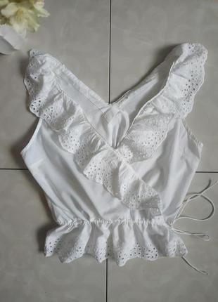 Блузочка котонова без рукавів