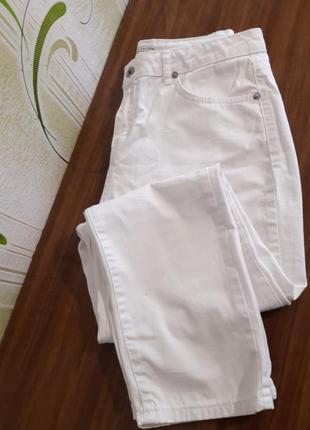 Качественные базовые белые джинсы, турция