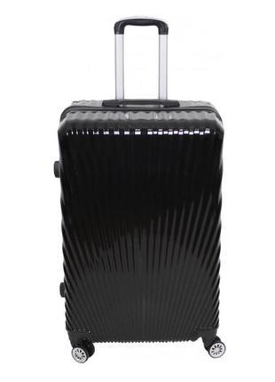Стильный качественный чемодан, чёрный