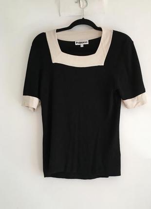 Шелковый топ/футболка, 100% шелк трикотаж стиль max mara sandro cos
