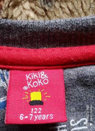 Суперский свитшот kiki & koko  для мальчика 6/7 лет6 фото