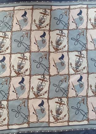 Шелковый платок морская тематика
