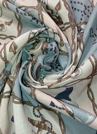 Шелковый платок морская тематика2 фото