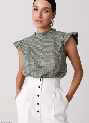 Шикарна блуза в горох / блуза из хлопка