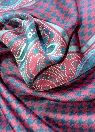 Шелковый платок шейный ysl yves saint laurent3 фото
