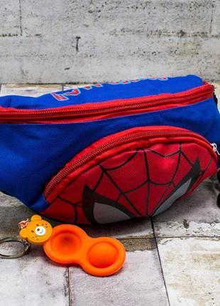 Детская бананка на пояс, человек паук, людина павук, spiderman, дитяча, сумка, подарунок хлопчику, мальчику, spider