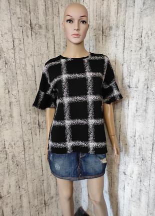 Блуза из тонкого фактурного трикотажа