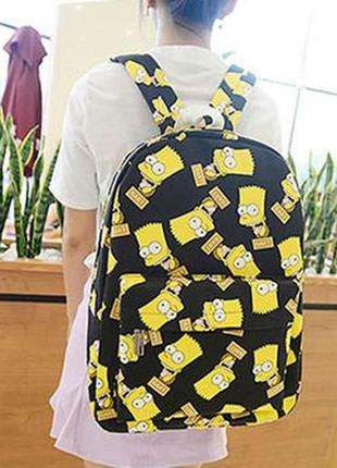 Городской рюкзак  simpson bart симпсон барт 25 л черный