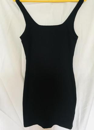 Платье майка рубчик