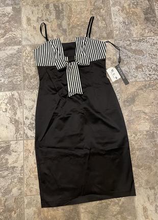 Новое атласное шелковое платье calore.