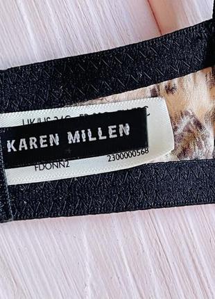 Фирменный шёлковый бюстгальтер балконет karen millen 75c7 фото