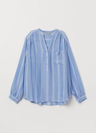 H&m голубая блуза