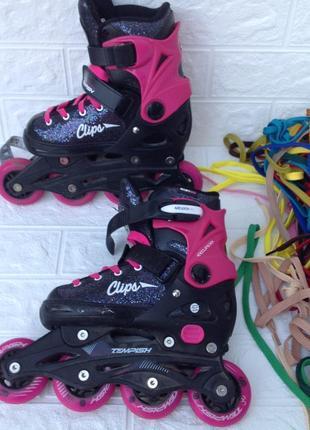 Детские роликовые коньки р.33-35  19,5см3 фото