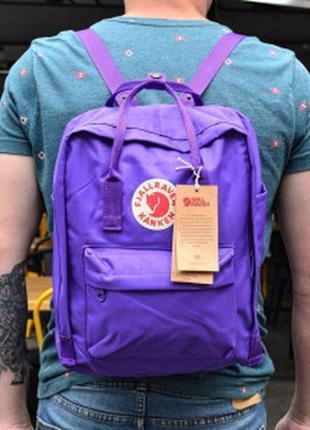 Городской рюкзак fjallraven kanken classic 16 л темно-фиолетовый