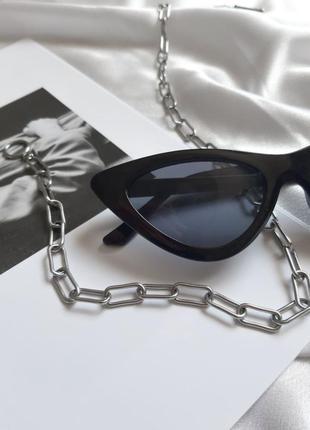 Солнцезащитные винтажные очки vogue 2021 лисички кошачий глаз сонцезахисні окуляри котяче око4 фото