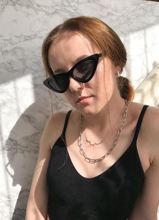 Солнцезащитные винтажные очки vogue 2021 лисички кошачий глаз сонцезахисні окуляри котяче око5 фото