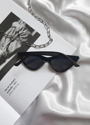 Солнцезащитные винтажные очки vogue 2021 лисички кошачий глаз сонцезахисні окуляри котяче око3 фото