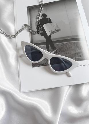 Солнцезащитные винтажные очки vogue 2021 лисички кошачий глаз сонцезахисні окуляри котяче око