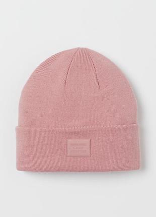 Шапка h&m двойная розовая