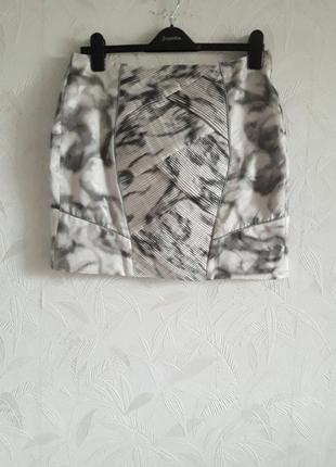 Стильная юбка на подкладке, 46-48-50, полиэстер  ацетат, morena rosa