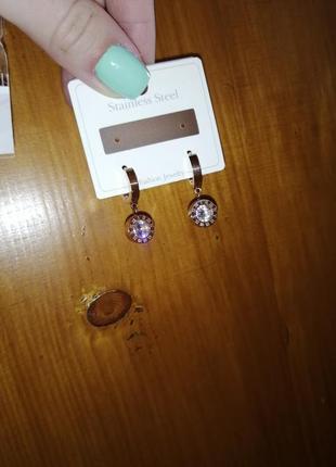 Серьги сережки с камушками булгари bulgari